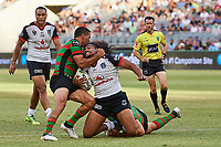Isaiah Papali'i of the NZ Warriors, Rabbitohs v Vodafone Warriors, NRL rugby league premiership. Optus Stadium, Perth, Western Australia. 10 March 2018. Copyright Image: Daniel Carson / www.photosport.nz