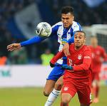 19.01.2020, OLympiastadion, Berlin, GER, DFL, 1.FBL, Hertha BSC VS. Bayern Muenchen, <br /> DFL  regulations prohibit any use of photographs as image sequences and/or quasi-video<br /> im Bild Davie Selke (Hertha BSC Berlin #27), Thiago Alcantara (FC Bayern Muenchen #6)<br /> <br />       <br /> Foto © nordphoto / Engler