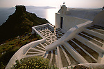 Church staircase on Santorini