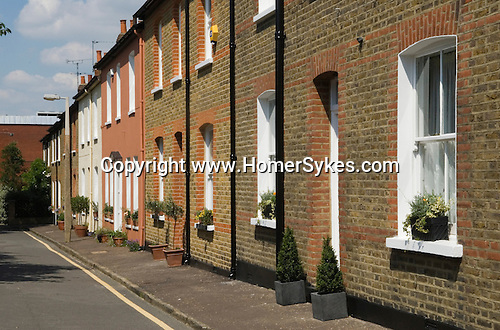 Richmond on Thames Surrey UK   Traditional red brick Edwardian cottages for working people. Now gentrified.
