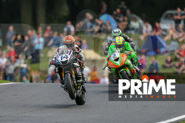 Tim NEAVE (14) of the Dickies British Supersport Championship Boxing Social (Yamaha) race team during the 12 lap Sprint Race at the Bennetts British Superbike Championship Round BSB Round 8 (Saturday) at Cadwell Park Circuit, Louth, England on 18 August 2018. Photo by David Horn.