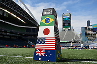 Seattle, WA - Thursday July 27, 2017: 2017 Tournament of Nations at CenturyLink Field during a 2017 Tournament of Nations match between the women's national teams of the Japan (JAP) and Brazil (BRA) at CenturyLink Field.