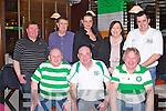 CELTIC: Member's of the Association of Ireland Celtic Supporters Club at their delegate meeting which was hosted by Tralee no.1 Celtic Supporters Club at Ruari's bar, Tralee on Friday seated l-r: Pat Halloran, John Murphy, John Colins (chairman Tralee no.1),  Back l-r: Paul McSherry, Tom Power, Diana Dimatrov, Elaine Mullins and Nicky Mullins.