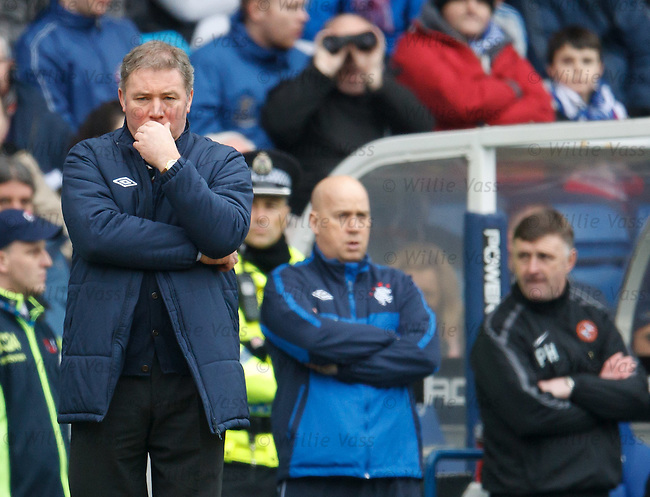 Ally McCoist puzzling on the touchline