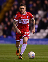 Mo Besi of Middlesbrough in action during the Sky Bet Championship match between Birmingham City and Middlesbrough at St Andrews, Birmingham, England on 6 March 2018. Photo by Bradley Collyer / PRiME Media Images.