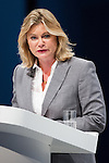 © Joel Goodman - 07973 332324 . No syndication permitted . 29/09/2013 . Manchester , UK . JUSTINE GREENING , Secretary of State for International Development , addresses the conference . Day 1 of the Conservative Party Conference at Manchester Central . Photo credit : Joel Goodman