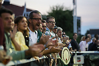 Supporters during the Greene King IPA Championship match between Ealing Trailfinders and London Irish Rugby Football Club  at Castle Bar, West Ealing, England  on 1 September 2018. Photo by David Horn.