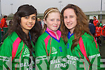 Yasmin Gardezi, Ciara Leen and Kirby Kissane from Ballyheigue Athlethic Soccer Club pictured at the Johnny Giles Walk of Dreams which started at Mounthawk soccer pitch on Sunday.