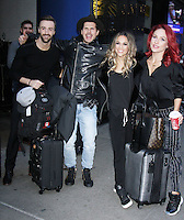 NEW YORK, NY November 23: James Hinchcliffe, Gleb Savchenko, Jane Kramer, Shams Burgess winner of Dancing with Stars 2016 at Good Morning America in New York City.November 23, 2016. Credit:RW/MediaPunch