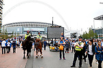 A heavy police presence outside Wembley Stadium during the SkyBet Championship Play Off Final match at the Wembley Stadium, England. Picture date: May 29th, 2017.Picture credit should read: Matt McNulty/Sportimage