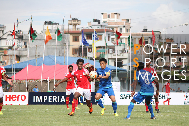 Bangladesh vs India during the 2015 AFC Cup 2015 Group A  match on September 03, 2015 at the Halchowk Stadium, in Kathmandu, Nepal. Photo by World Sport Group