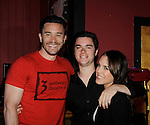 Tom Pelphrey and Eddie & Kristen Alderson at 15th Southwest Florida Soapfest 2014 Charity Weekend with a Bartending/Karaoke get together on May 26, 2104 at Porky's, Marco Island, Florida. (Photo by Sue Coflin/Max Photos)