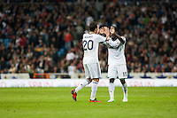 Higuain and Essien celebrates second goal