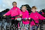 All In Pink<br /> --------------<br /> L-R Sophie McGowan, Mia Brosnan&amp;Saoirse McGowan from Ardfert getting their exercise on the Harvest cycle last Saturday morning