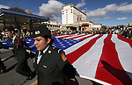 Members of the Reno High School JROTC Color Guard march in the Nevada Day parade on Saturday, Oct. 30, 2010, in Carson City, Nev. .Photo by Cathleen Allison