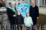Launching the St Patrick's Festival with Grand Marshal Johnnie Wall and Mayor of Tralee, Cllr Jim Finucane at the Gaelcholáiste Chiarraí on Monday  <br />  L to r: Cllr Johnny Wall (Grand Marshall 2020), Cathal Carr,  Arer Lin and Cllr Jim Finucane (Mayor of Kerry),