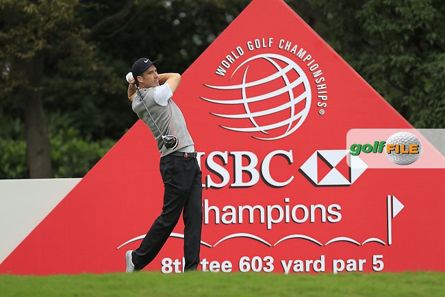 Ross Fisher (ENG) on the 8th tee during round 3 of the WGC-HSBC Champions, Sheshan International GC, Shanghai, China PR.  29/10/2016<br /> Picture: Golffile | Fran Caffrey<br /> <br /> <br /> All photo usage must carry mandatory copyright credit (&copy; Golffile | Fran Caffrey)