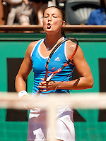 Dinara Safina (RUS) (1) against Dominika Cibulkova (SVK) (20) in the Semifinals of the Women's Singles. Safina beat Cibulkova 6-3 6-3..Tennis - French Open - Day 12 - Thurs  4th June 2009 - Roland Garros - Paris - France..Frey Images, Barry House, 20-22 Worple Road, London, SW19 4DH.Tel - +44 20 8947 0100.Cell - +44 7843 383 012