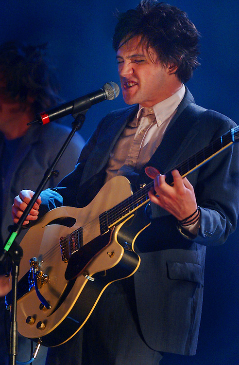 Coner (cq) Oberst of Bright Eyes jams during the Short List Awards at the Wiltern, Sunday evening in Hollywood.