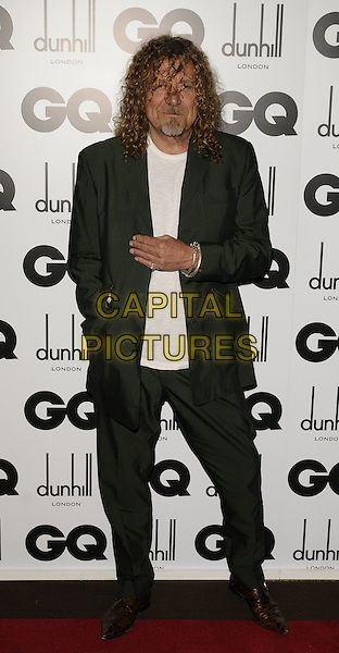 ROBERT PLANT of Led Zeppelin.Inside arrivals at the GQ Men of the Year Awards at the Royal Opera House, Covent Garden, London, England. .September 2nd 2008.full length green suit brown pointy shoes .CAP/CAN.©Can Nguyen/Capital Pictures.