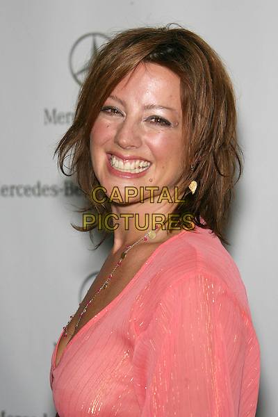 SARAH McLACHLAN.Mercedes-Benz Fall 2006 L.A. Fashion Week - Voom by Joy Han - DAY 4 Arrivals held at Smashbox Studios, Culver City, California, USA..Macrh 22nd, 2006.Photo: Zach Lipp/AdMedia/Capital Pictures.Ref: ZL/ADM.headshot portrait pink necklace.www.capitalpictures.com.sales@capitalpictures.com.© Capital Pictures.