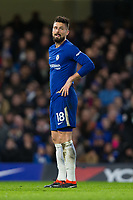 Chelsea's Olivier Giroud reacts to a missed chance <br /> <br /> Photographer Craig Mercer/CameraSport<br /> <br /> The Premier League - Chelsea v Crystal Palace - Saturday 10th March 2018 - Stamford Bridge - London<br /> <br /> World Copyright &copy; 2018 CameraSport. All rights reserved. 43 Linden Ave. Countesthorpe. Leicester. England. LE8 5PG - Tel: +44 (0) 116 277 4147 - admin@camerasport.com - www.camerasport.com