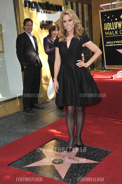 Cheryl Hines on Hollywood Boulevard where she was honored with the 2,516th star on the Hollywood Walk of Fame.<br /> January 29, 2014  Los Angeles, CA<br /> Picture: Paul Smith / Featureflash