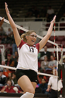 27 October 2005:  Lizzy Suiter during Stanford's 3-0 win over Oregon in Stanford, CA.