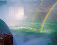 Rainbow at Horseshoe Falls  Niagra Reservation State Park, New York  Niagra River, Lakes Ontario and Erie Western New York near Buffalo   July