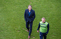 Wycombe Wanderers Manager Gareth Ainsworth & Wycombe Wanderers Assistant Manager Richard Dobson during the Sky Bet League 2 match between Leyton Orient and Wycombe Wanderers at the Matchroom Stadium, London, England on 1 April 2017. Photo by Andy Rowland.