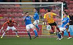 Partick Thistle v St Johnstone.....14.03.15<br /> Stuart Bannigan scores Psartick's third goal<br /> Picture by Graeme Hart.<br /> Copyright Perthshire Picture Agency<br /> Tel: 01738 623350  Mobile: 07990 594431