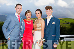 Enjoying a great time at the Milltown Presentation Debs at Ballyroe Heights Hotel on Tuesday were  l-r Joseph Clifford, Stella Hussey, Kelly Murphy and Jack O'Sullivan
