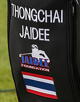 Thongchai Jaidee (Thailand) golf bag during the GOLFSIXES ProAm  at Centurion Club, St Albans, England on 5 May 2017. Photo by Andy Rowland.