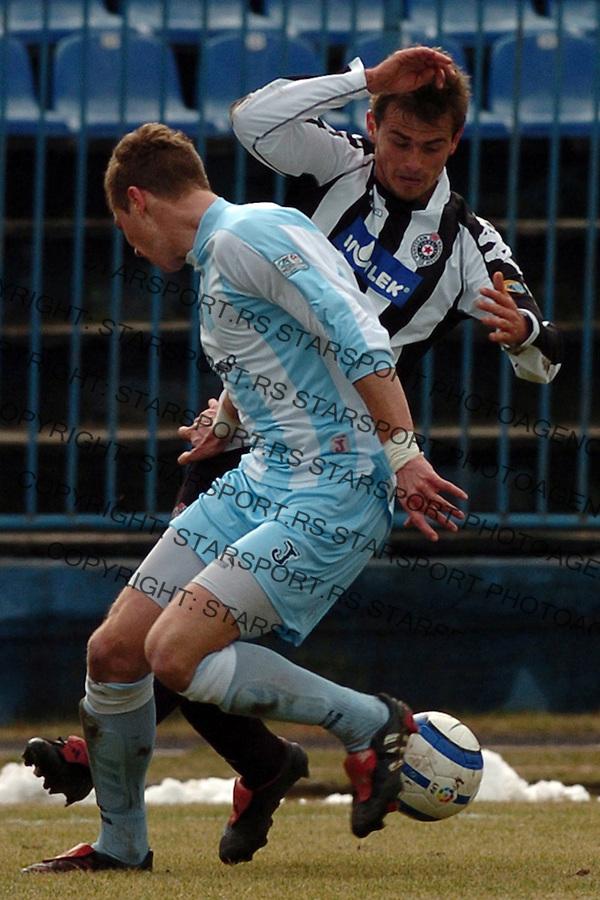SPORT FUDBAL FOOTBALL SOCCER OFK BEOGRAD PARTIZAN BELGRADE SERBIA  Danko Lazovic i  Slobodan Rajkovic (F) 25.2.2006. foto: Pedja Milosavljevic<br />
