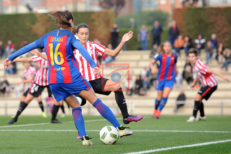 Spanish Women's Football League Iberdrola 2016/17 - Game: 11.<br /> FC Barcelona vs Athletic Club: 2-1.<br /> Vicky Losada vs Moraza.