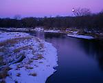 moonset over Upper Iowa River, Winneshiek County, Iowa
