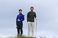 Sam Murphy (Portumna) and Darragh Crawford (Bundoran) on the 16th tee during Round 2 of The East of Ireland Amateur Open Championship in Co. Louth Golf Club, Baltray on Sunday 2nd June 2019.<br /> <br /> Picture:  Thos Caffrey / www.golffile.ie<br /> <br /> All photos usage must carry mandatory copyright credit (© Golffile | Thos Caffrey)