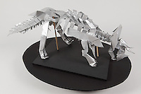 Origami triceratops designed by Issei Yoshino and folded by Ryan Dong.