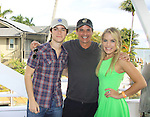 One Life To Live Eddie Alderson, Y&R Christian LeBlanc and GH Kristen Alderson at SoapFest's Celebrity Weekend - Cruisin' and Schmoozin' on the Marco Island Princess - mix and mingle and watching dolphins - autographs, photos, live auction raising money for kids on November 11, 2012 Marco Island, Florida. (Photo by Sue Coflin/Max Photos)