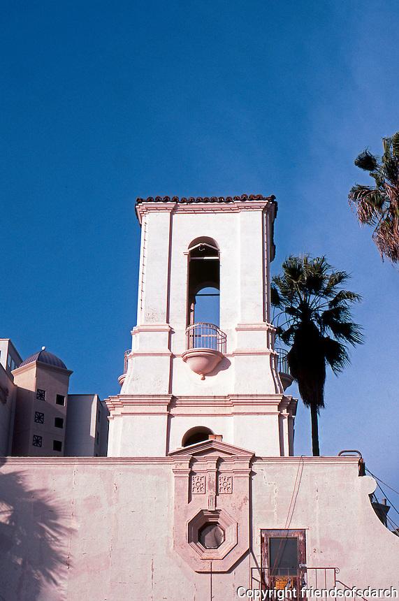 San Diego: Police Headquarters Detail, 1939. Quayle Bros. & A.O. Treganza.  NRHP 1998. 501 Pacific Highway. Spanish Colonial Revival, Mediterranean Revival, Classical Revival, Pueblo, Photo '03.