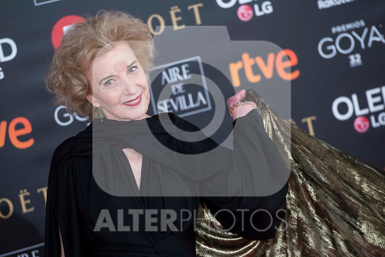 Marisa Paredes attends red carpet of Goya Cinema Awards 2018 at Madrid Marriott Auditorium in Madrid , Spain. February 03, 2018. (ALTERPHOTOS/Borja B.Hojas)