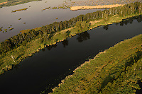 Peene river and flooded lands near Anklamer Stadtbruch, Germany