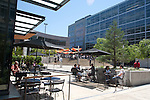 Seattle, South Lake Union, Amazon campus, new technology and science office buildings, employees at lunchtime,