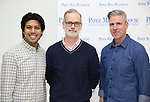 "J. Coner Navarro, Jack Cummings III and Scott Rink during the meet the cast photo call for the Paper Mill Playhouse production of  ""Benny & Joon"" at Baza Dance Studios on 3/21/2019 in New York City."