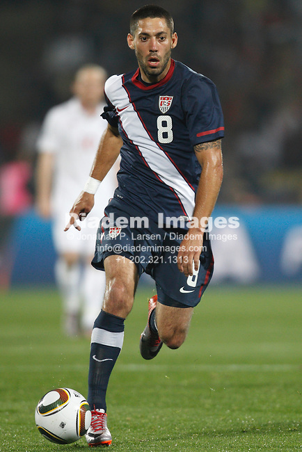 RUSTENBURG, SOUTH AFRICA - JUNE 12:  Clint Dempsey of the United States in action during a 2010 FIFA World Cup soccer match against England June 12, 2010 in Rustenburg, South Africa.  NO mobile use.  Editorial ONLY.(Photograph by Jonathan P. Larsen)