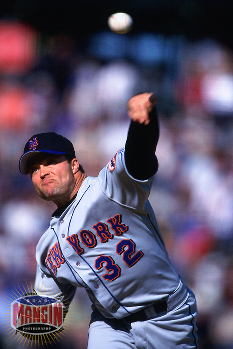 SAN FRANCISCO, CA - Mike Hampton of the New York Mets pitches during a game against the San Francisco Giants at Pacific Bell Park in San Francisco, California in 2000. Photo by Brad Mangin