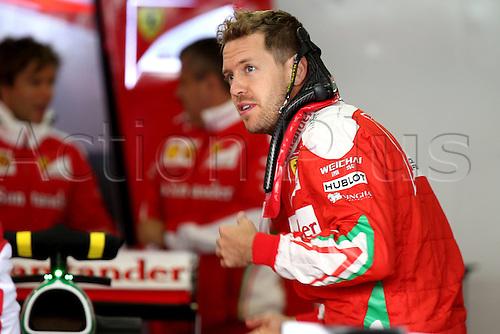 28.04.2016. Sochi, Russia. FIA Formula 1 Grand Prix of Russia from the Sochi racetrack.  Arrival and inspection day.  5 Sebastian Vettel (GER, Scuderia Ferrari)