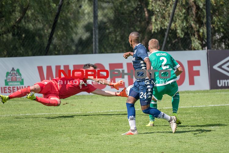 11.01.2019, Bidvest Stadion, Braampark, Johannesburg, RSA, FSP, SV Werder Bremen (GER) vs Bidvest Wits FC (ZA)<br /> <br /> im Bild / picture shows <br /> <br /> Stefanos Kapino (Werder Bremen #27) in Aktion <br /> Thandani Ntshumayelo (Bidvest Wits FC #24)<br /> Felix Beijmo (Werder Bremen #02)<br /> Foto © nordphoto / Kokenge