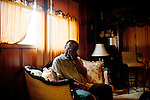 Fate Morris cries as he speaks about his sister in his Birmingham home August 14, 2013. His older sister Cynthia Wesley (Morris) was killed when a bomb went off at 16th Street Baptist Church September 15, 1963.
