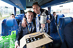 St Johnstone v Dundee United....17.05.14   William Hill Scottish Cup Final<br /> Brian Easton and Gary McDonald on the journey back to Perth<br /> Picture by Graeme Hart.<br /> Copyright Perthshire Picture Agency<br /> Tel: 01738 623350  Mobile: 07990 594431